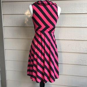 INC International Concepts Dresses - {I.N.C.} Ruffle V-Neck Striped Dress 🖤